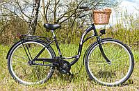 Велосипед жіночий міський VANESSA 28 Black з кошиком Польща