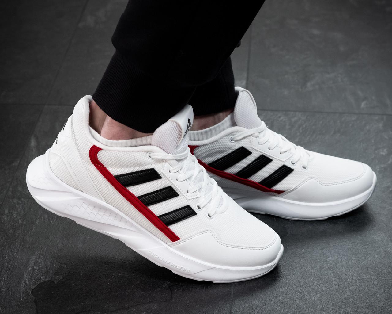 Мужские кроссовки Adidas Белые Сетка, Реплика