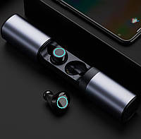 Беспроводные наушники Wi-pods S2 блютуз гарнитура Bluetooth 5.0 и Power Bank 1200mah Метал ОРИГИНАЛ
