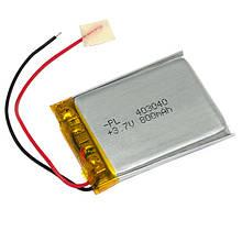 Аккумулятор литий-полимерный 403040 3,7V 800mAh (4*30*40мм)