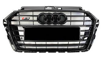 Решетка радиатора Audi A3 8V (16-19) стиль S3 Black Edition