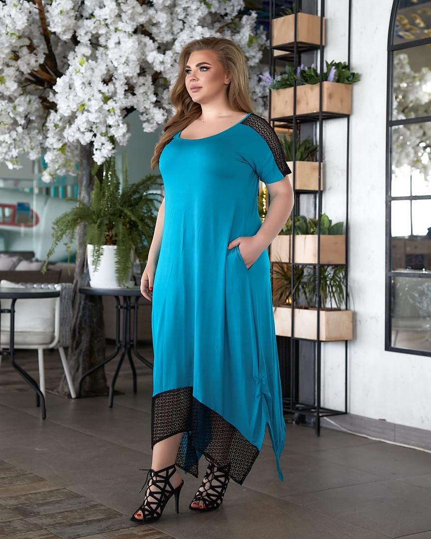 Женское длинное платье большого размера.Размеры48/62+Цвета