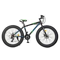 Велосипед фэтбайк 26 дюймов Profi Power EB26POWER 1.0 S26.5 Стальная рама Черно-синий