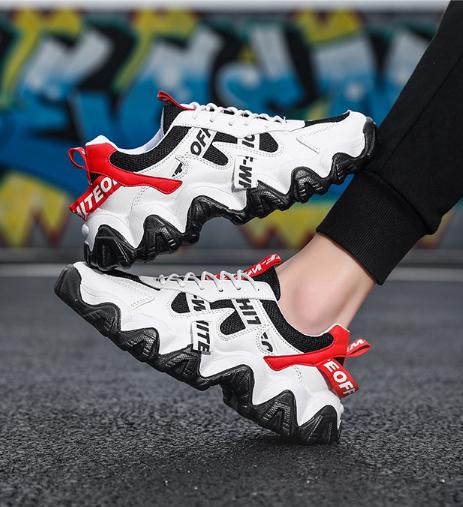Кроссовки черно-белые в стиле Off-White
