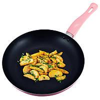 Сковорода Kamille Розорвый 28см з антипригарним покриттям без кришки для індукції і газу KM-4248A, фото 1