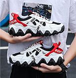 Кроссовки черно-белые в стиле Off-White, фото 2