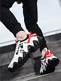 Кроссовки черно-белые в стиле Off-White, фото 3