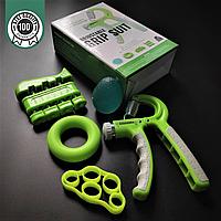 Набір кистьових еспандерів для пальців і рук 5 шт ZELART Максимальне навантаження 60 кг Зелений (FI-2527)