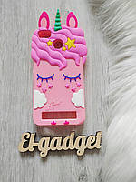 Чехол для Xiaomi Mi 4i  Единорог розовый
