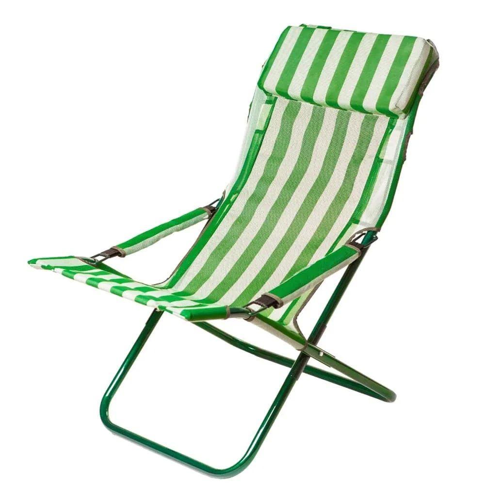 Шезлонг Vitan Горизонт (960х640х1000мм), зеленый-белый