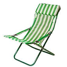 Шезлонг Vitan Горизонт (960х640х1000мм), зелений-білий