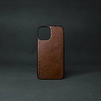 """Кейс для IPhone 12"""" Mini глянцева шкіра теракот"""