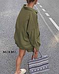 Жіночий костюм, льон - стрейч, р-р універсальний 42-46 (хакі), фото 2