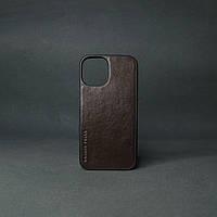 """Кейс для IPhone 12"""" Mini глянцева шкіра шоколадний"""