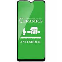 Защитное стекло-пленка Fiji Ceramics для Nokia C20 черный Full Glue 0,26 мм в упаковке
