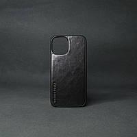 Кейс для IPhone 12 Mini глянцева шкіра чорний