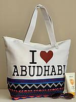 Пляжная сумка белая тканевая, фото 1