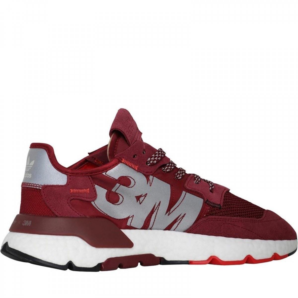 Кроссовки мужские Adidas Nite Jogger Boost текстильные красные Адидас (Топ реплика ААА+)