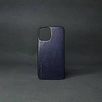 Кейс для IPhone 12 Mini глянцева шкіра синій