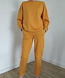 Жовтий костюм зі штанами і кофтою, трикотаж, фото 2