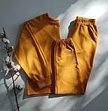 Жовтий костюм зі штанами і кофтою, трикотаж, фото 3