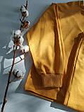 Жовтий костюм зі штанами і кофтою, трикотаж, фото 4
