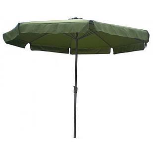 Зонт торговый антиветер Stenson MH-3838 3 м, зеленый