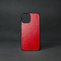 Кейс для IPhone 12 Pro глянцева шкіра червоний