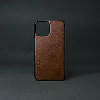 Кейс для  IPhone 12 Pro глянцева шкіра теракот