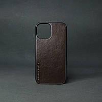 Кейс для IPhone 12 Pro глянцева шкіра шоколад