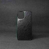 Кейс для IPhone 12 Pro глянцева шкіра чорний
