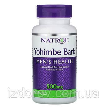 Natrol, Йохимбе, 500 мг, Yohimbe Bark, 90 капсул