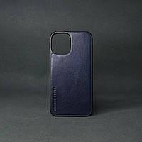 Кейс для IPhone 12 Pro глянцева шкіра синій