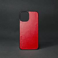 Кейс для IPhone 12 Pro Max глянцева шкіра червоний