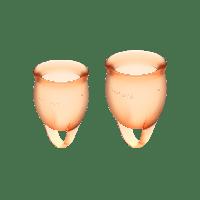 Набор менструальных чаш, 15 мл и 20 мл (оранжевый) Satisfyer Feel Confident