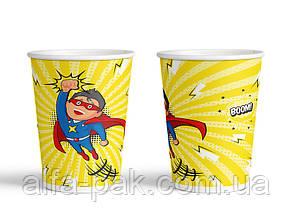 """Стакан бумажный цветной 270 мл Event """"Супергерой"""""""