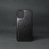 Кейс для IPhone 12 Pro Max глянцева шкіра чорний