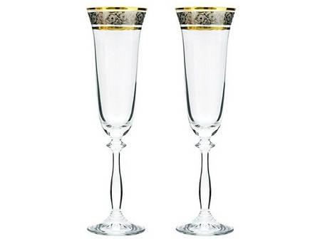 Бокалы для шампанского Bohemia Angela GOLD 40600/43249/190/2 190 мл 2 шт, фото 2