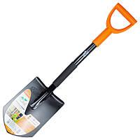 Лопата штыковая с металлической ручкой 285×195×800мм 1.9кг (американка) FLORA (5045224)