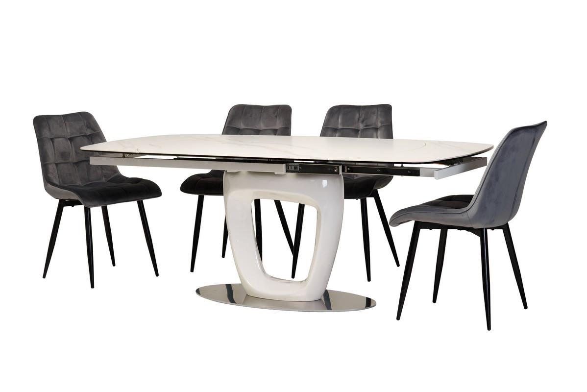 Стол керамический TML-825 белый мрамор