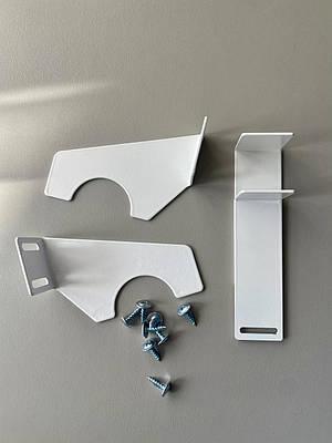 Кронштейны (крепления) для декоративных решеток на биметаллические батареи отопления, комплект