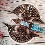 Топор викинга Детский деревянный игрушечный топорик Лабрис для юных рыцарей, фото 8