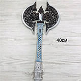 Топор викинга Детский деревянный игрушечный топорик Лабрис для юных рыцарей, фото 10