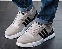 Мужские кроссовки Adidas Neo Серые Замшевые, Реплика, фото 1