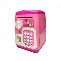 Детская Копилка MK 4629 Сейф с кодом 19х24х15 см (Розовый)