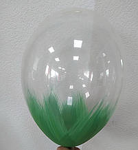 "Латексный шар с рисунком Браш зеленая Belbal 12 ""/ 038/30 ТМ"" Shar Expert """