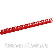 Пружина пластиковая Axent 2922-06-A, 22 мм, красная, 50 штук