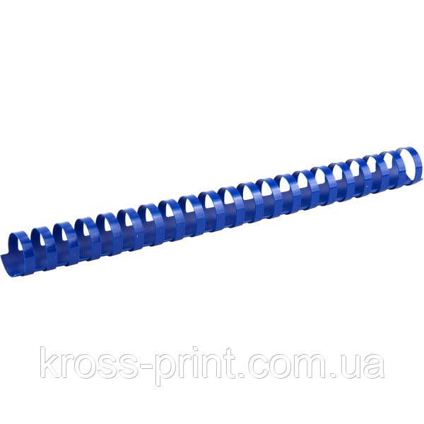 Пружина пластиковая Axent 2925-02-A, 25 мм, синяя, 50 штук