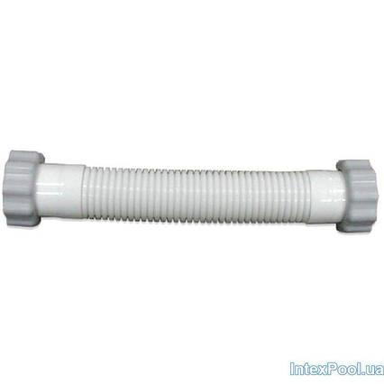 Гофрований шланг з гайками Intex 11536 до насоса 28680/26680 (довжина 36 см, діаметр 38 мм, різьба 50 мм)