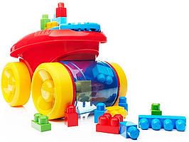 Конструктор Mattel Mega Bloks Тележка Собираем Кубики First Builders Block Scooping Wagon Уценка